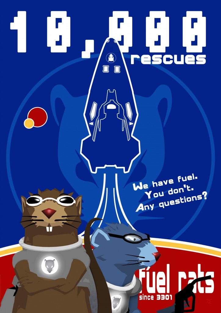 FuelRats 10,000 rescues poster